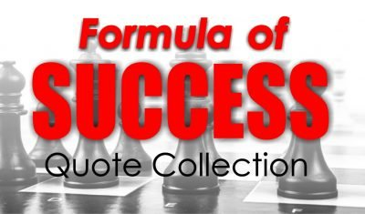Formula Of Success Quote Collection