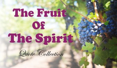 The Fruit O The Spirit Collection Of Bible Verses